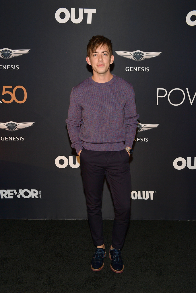 Kevin McHale attends OUT Magazine's Power 50 Award & Celebration Presented By Genesis at NeueHouse Los Angeles on September 27, 2018 in Hollywood, California