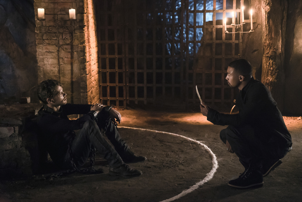 Joseph Morgan as Klaus Mikaelson and Charles Michael Davis as Marcel in 'The Originals' Season 4, Episode 1 — 'Gather Up The Killers'