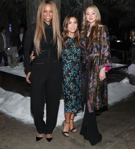 Tyra Banks, Monique Lhuillier and Devon Aoki attend Gaggenau's pop-up restaurant 1683 honoring Operation Smile on May 22, 2018 in Los Angeles, California