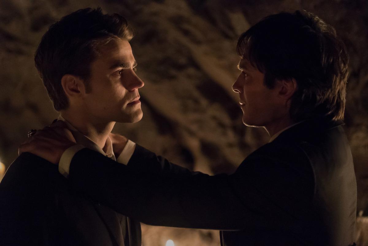 Paul Wesley as Stefan Salvatore and Ian Somerhalder as Damon Salvatore in 'The Vampire Diaries' series finale — 'I Was Feeling Epic'
