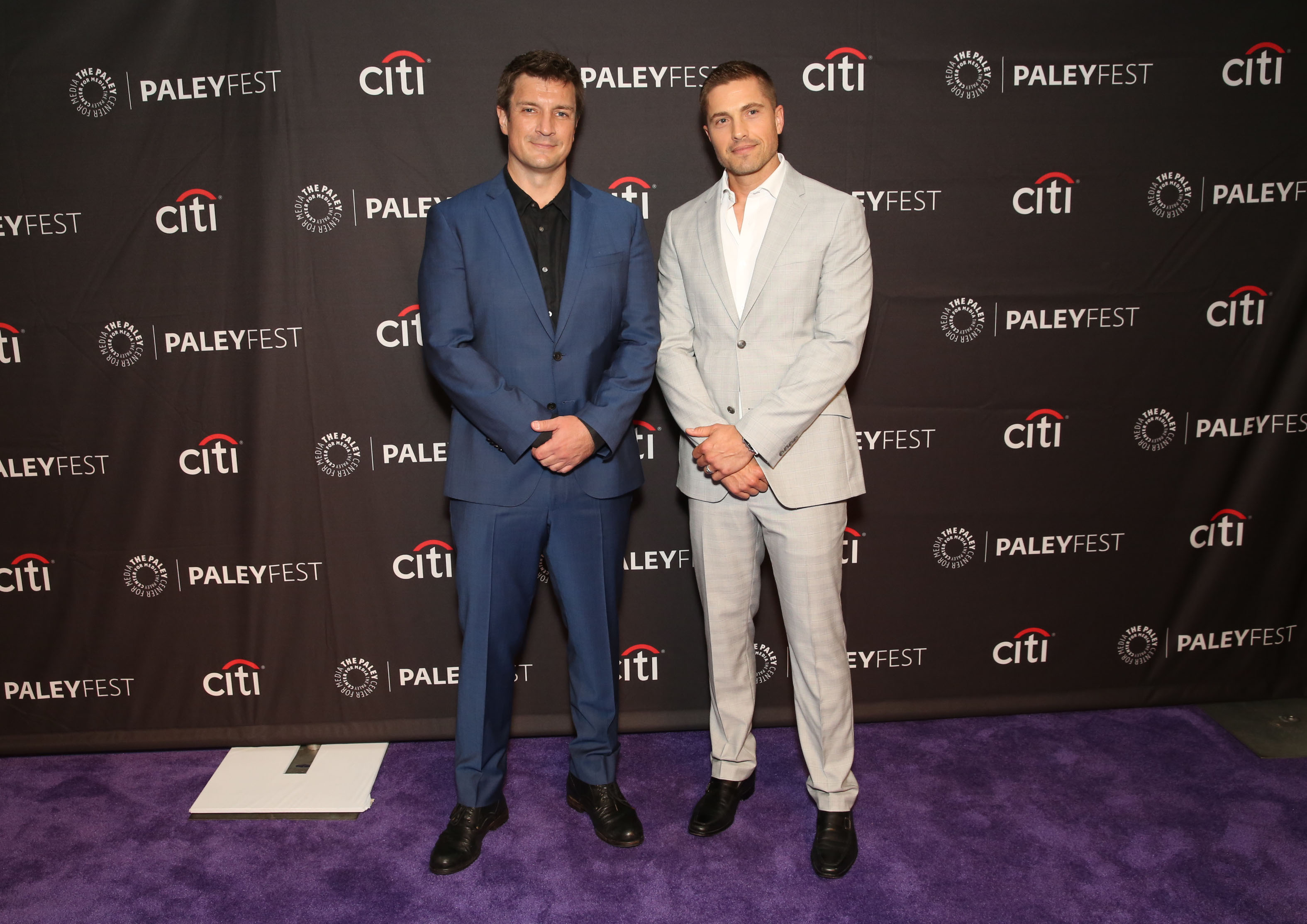 3d93ac4204 PaleyFest Fall TV Previews 2018. Nathan Fillion and Eric Winter arrive at The  Paley Center for Media s 12th Annual PaleyFest Fall
