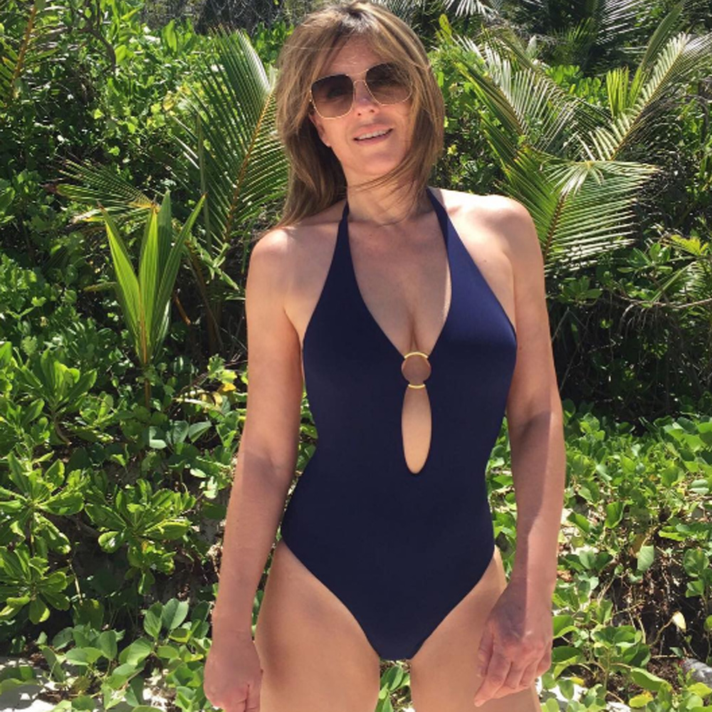 Elizabeth Hurley Bares Cleavage In Nearly-Topless Instagram Pic ...